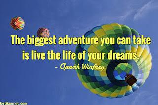 quotes about adventure dan artinya