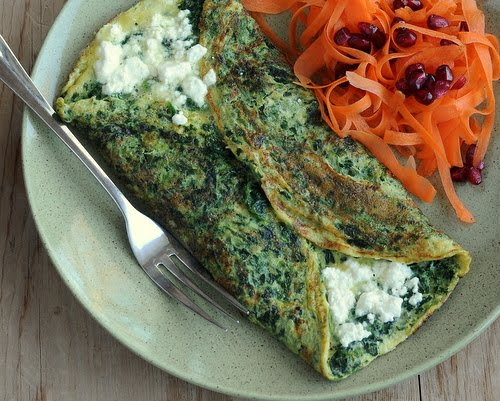 How to Make a Spinach Omelet ♥