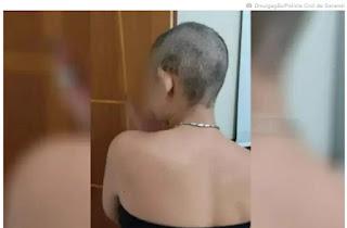 Mulher é mantida em cárcere privado, torturada e tem cabeça raspada