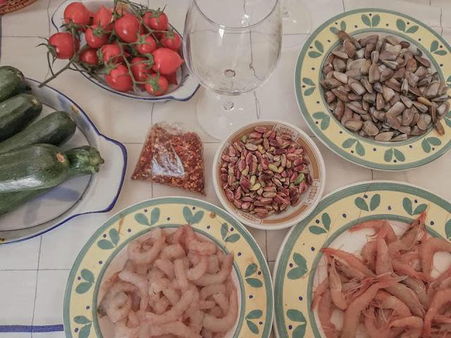 foto telline gamberetti pistacchio zucchine