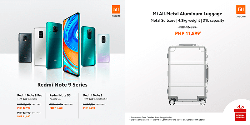 Xiaomi and Mi Store PH cuts prices of Redmi Note 9 series, all-metal Aluminum Luggage and more!