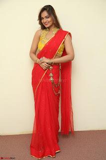 Actress Ashwini in Golden choli Red saree Spicy Pics ~  064.JPG