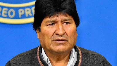 Presidente Evo Morales sale para México