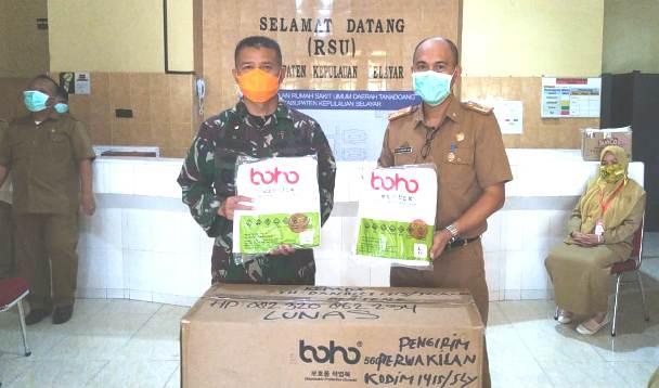 TNI Kodam XIV Hasanuddin Bantu APD Untuk Tenaga Medis Di RSUD KH. Hayyung Selayar