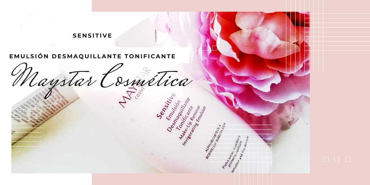 SENSITIVE, EMULSIÓN DESMAQUILLANTE TONIFICANTE DE MAYSTAR COSMÉTICA