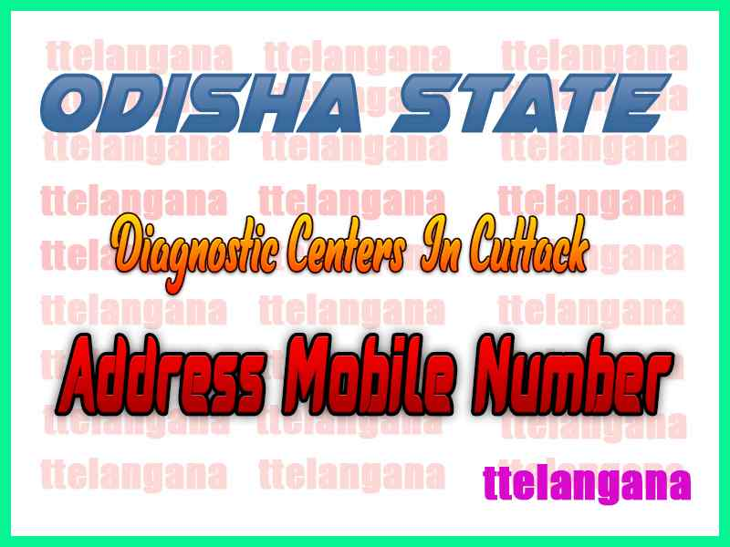 Diagnostic Centers In Cuttack In Odisha