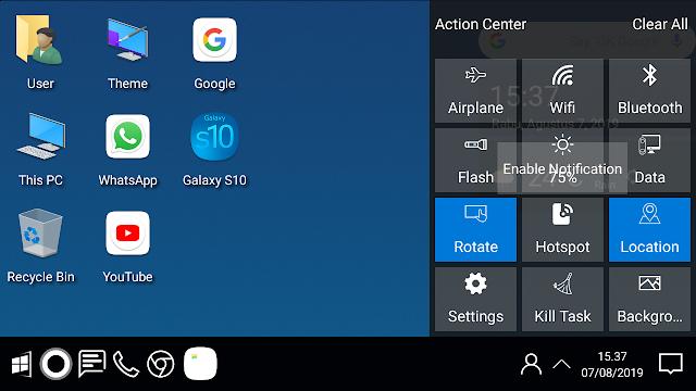 Cara mengubah tampilan windows android