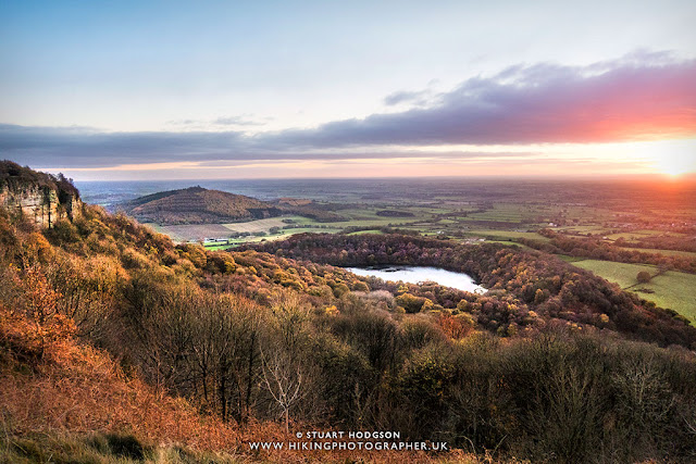 Sutton Bank walks best view in Yorkshire Whitestone Cliff Gormire Lake North York Moors