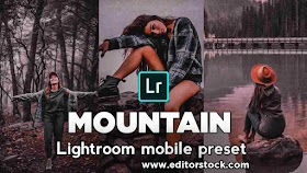 Mountain - Nature photography Preset Lightroom Mobile 2021 download for free