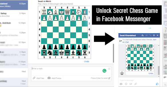 play chess on Facebook Messenger