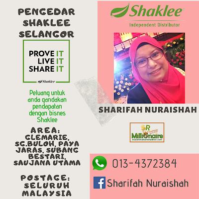 Pengedar Shaklee Saujana Utama 0134372384
