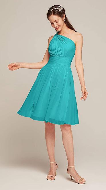 Elegant Turquoise Chiffon Bridesmaid Dresses