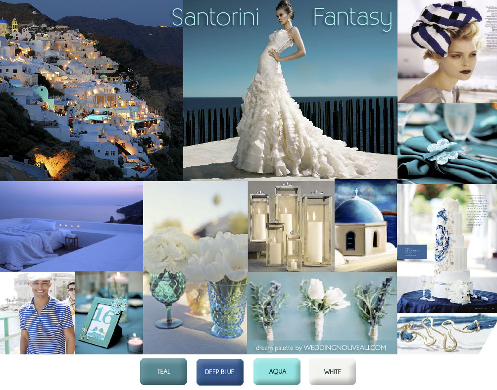 Weddings In Santorini Greece Inspiration Boards
