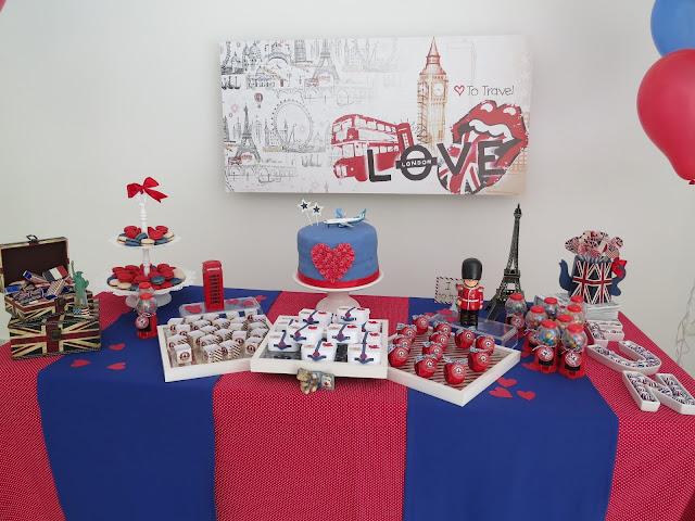 Mesa do bolo Love to Travel Party. Bolo aniversário viagem - com placa em PS tema viagem