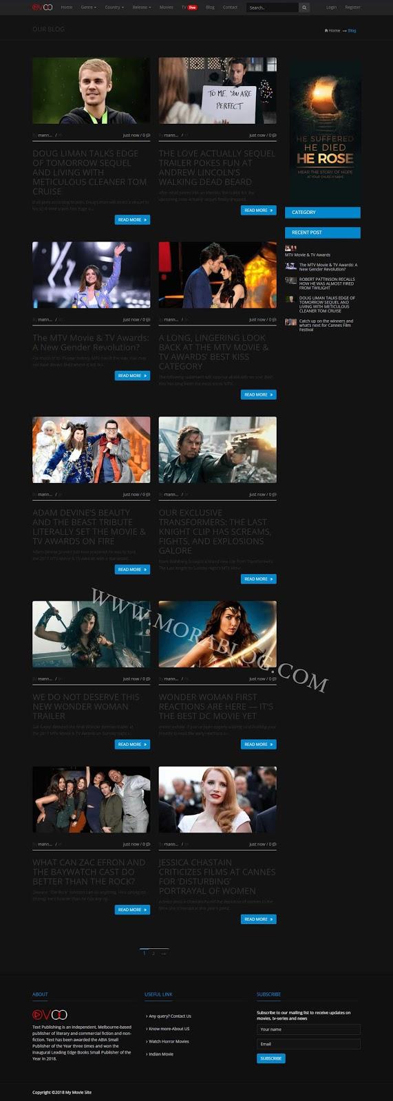 تحميل سكربت OVOO لانشاء موقع افلام شبيه لنتفليكس مع خاصية اللايف ستريم