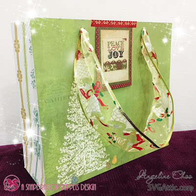 SVG Attic: Christmas Gift Bags with Angeline #svgattic #scrappyscrappy #christmas #fatherchristmas #holiday #giftbag