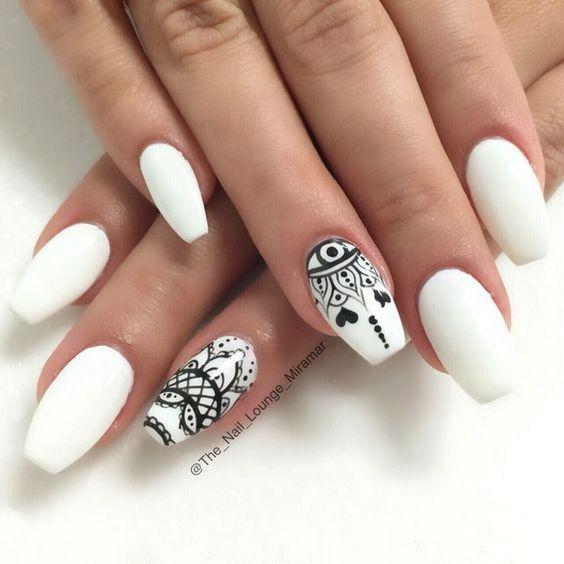 White Nail Art Designs