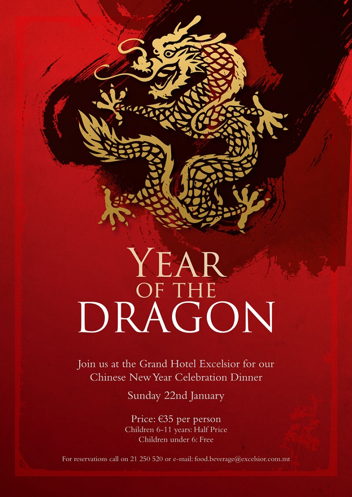 CHINESE NEW YEAR at the GRAND HOTEL EXCELSIOR MALTA