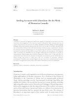 Stefano G. Azzarà: Settling Accounts with Liberalism