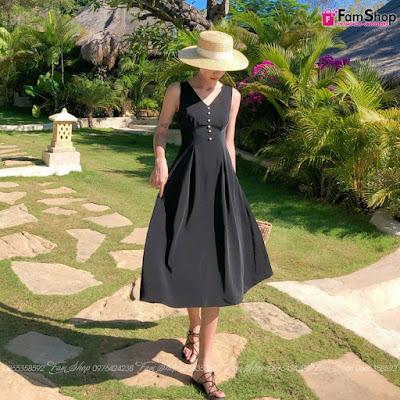 Váy maxi đi biển V413