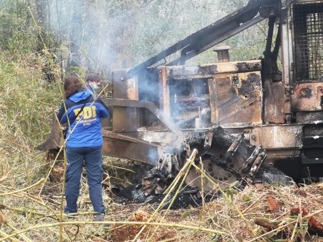 Investigan incendio de maquinarias