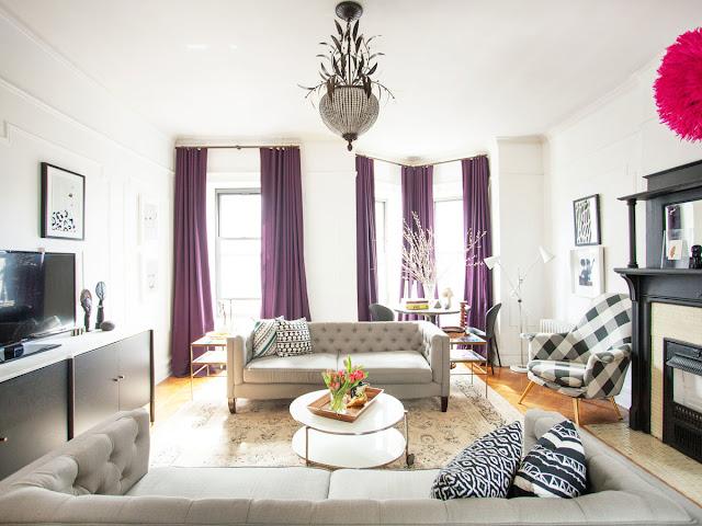 Kết hợp một không gian phòng khách hiện đại với lò sưởi