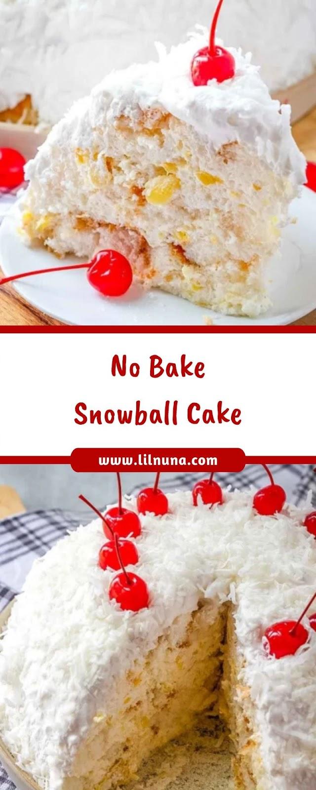 No Bake Snowball Cake