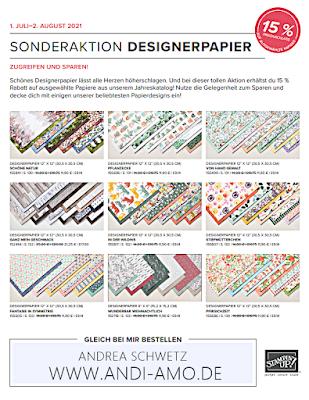 Flyer Stampin Up Sonderaktion Designerpapier 15 %