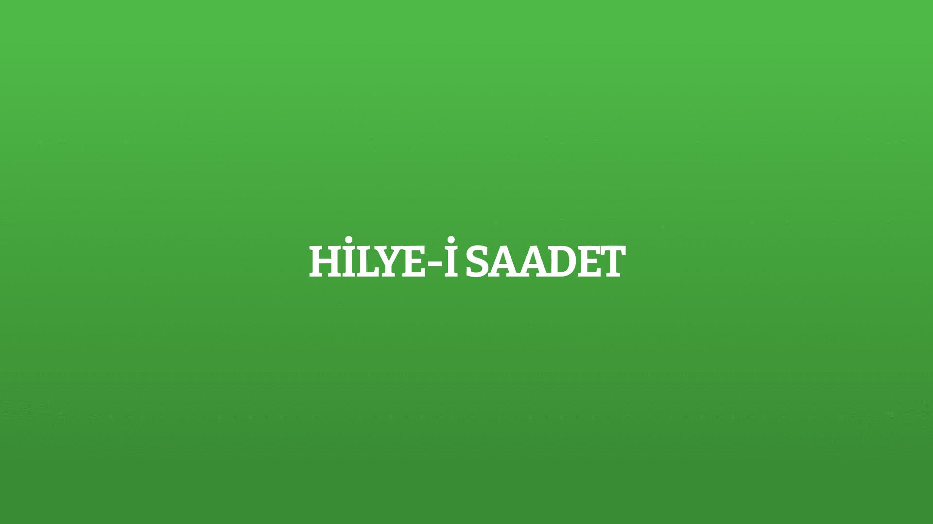 Hilye-i Saadet