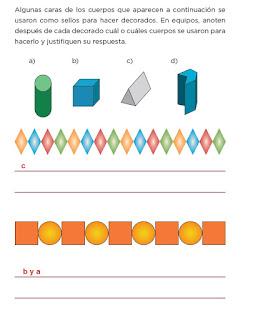 Respuestas Apoyo Primaria Desafíos Matemáticos 4to. Grado Bloque II Lección 33 Figuras para decorar