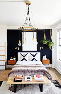 Bedroom Ceiling Light Ideas - Exposed Bulb Chandelier