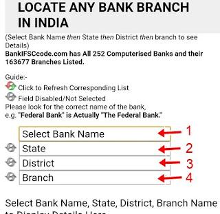 Banking details select kare