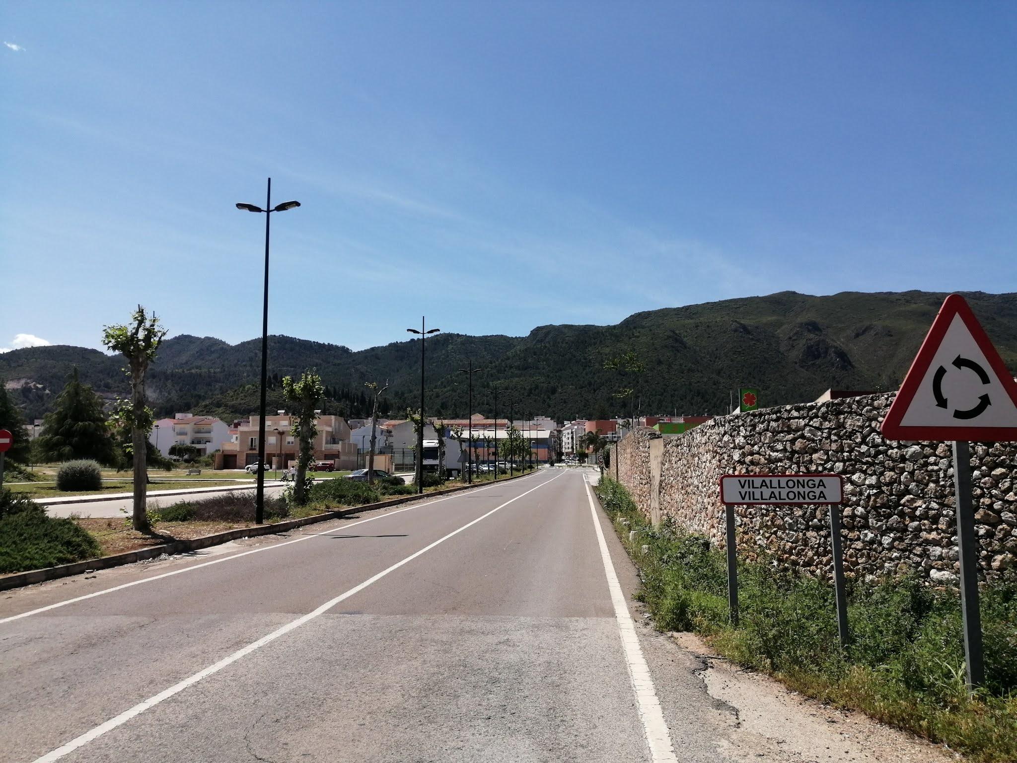 Entrance to Villalonga from the direction of Gandia, Valencia, Spain
