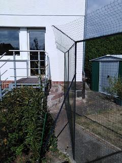 Katzenzaun zur Gartenvernetzung
