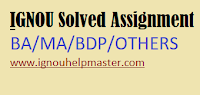 IGNOU All Solved Assignment list