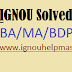 IGNOU Solved Assignment 2021-22 Session free download