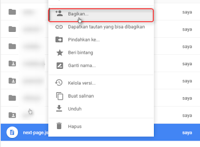 Cara Host File JS Di Google Drive