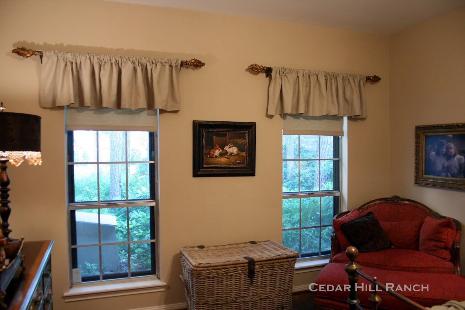 Homemade Roller Shades Cedar Hill Farmhouse
