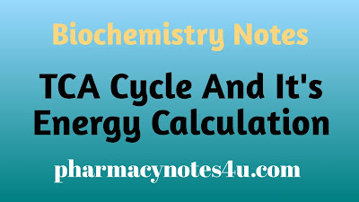 TCA Cycle , citric acid cycle , Krebs cycle, Biochemistry notes