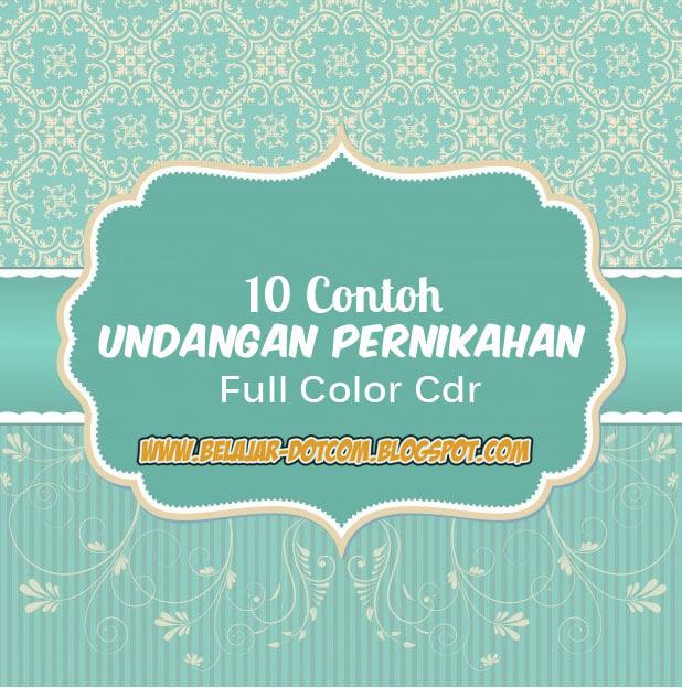 10 Contoh Undangan Pernikahan Full Color Cdr Kumpulan Tutorial