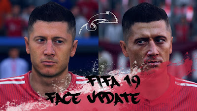 FIFA 19 Faces Robert Lewandowski by CrazyRabbit