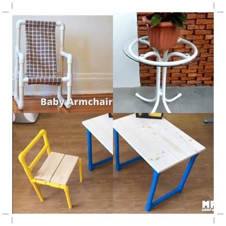 Meja kursi dari pipa air