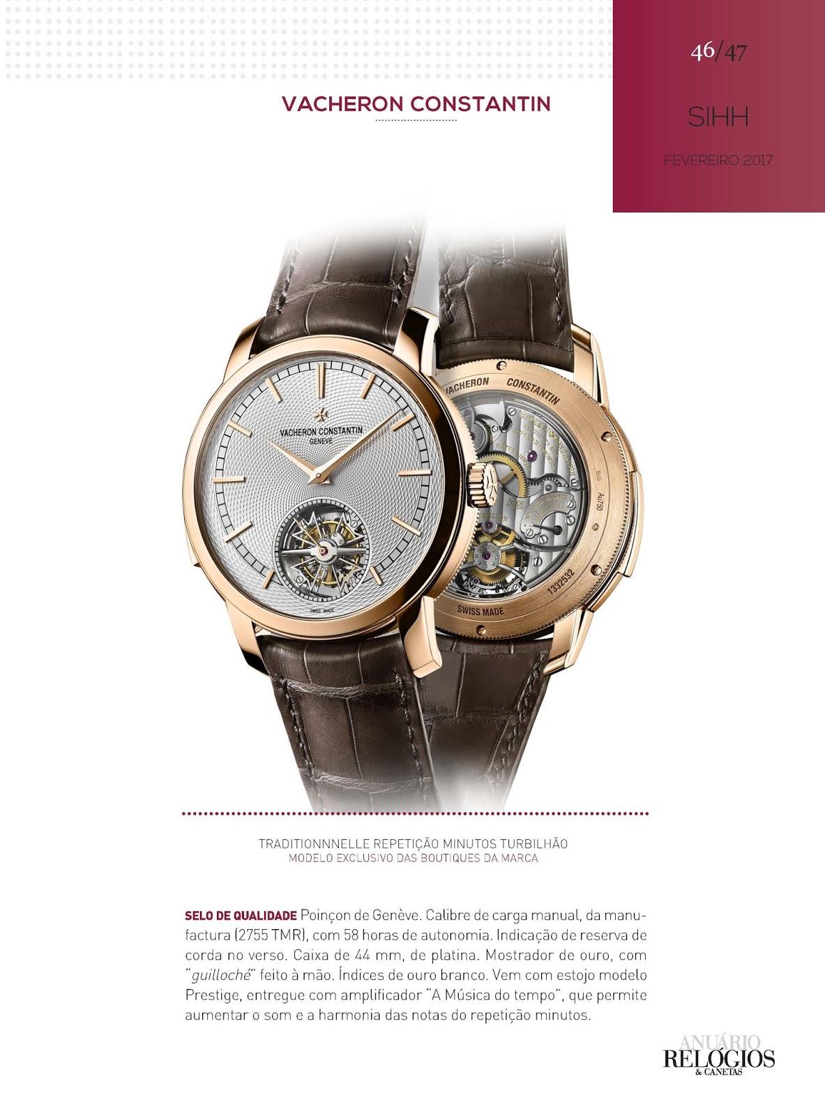 f643242d17e Os relógios Vacheron Constantin no Relógios   Canetas online