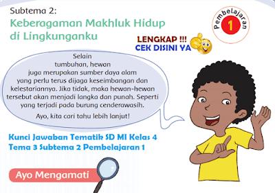Kunci Jawaban Tematik SD MI Kelas 4 Tema 3 Subtema 2 Pembelajaran 1 www.simplenews.me