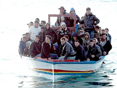 Lampedusa: boatload of refugees #9