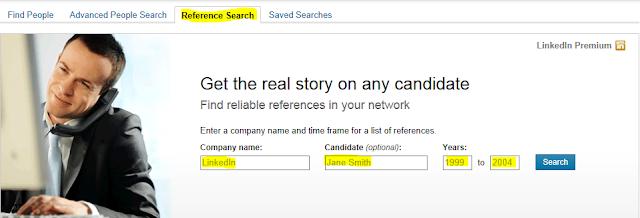 conduct reference check on LinkedIn, LinkedIn reference check, checking references on LinkedIn,