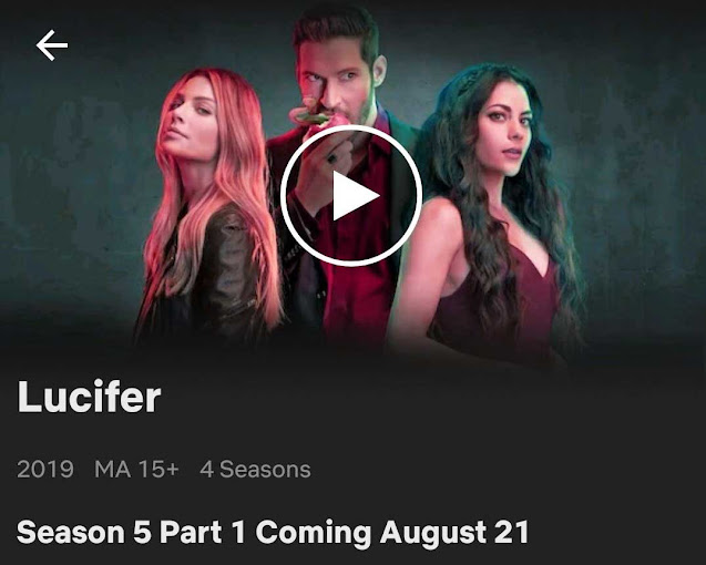 Lucifer Season Five Part one Release date