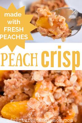 peach crisp made with fresh peaches