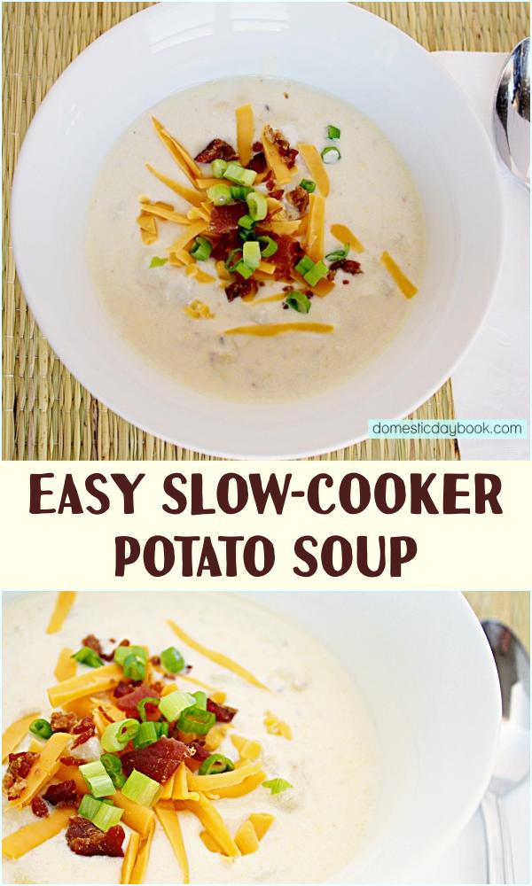 EasySlow-Cooker Potato Soup Recipe
