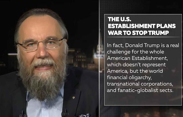 Trump inimigo nº1 do inimigo nº1 da Rússia, segundo a saga de Dugin.